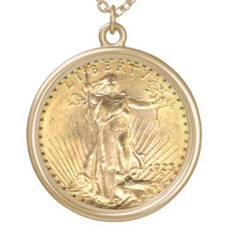 St Gaudens Liberty 20 Dollar 1923 Pendant Necklace