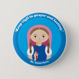 St. Genevieve 2 Inch Round Button