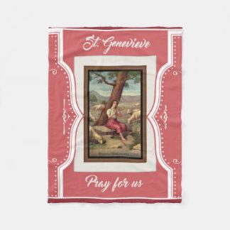 St. Genevieve Girl Saint Religious Fleece Blanket
