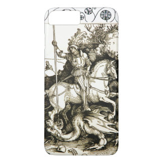 ST. GEORGE AND DRAGON , Black White iPhone 8 Plus/7 Plus Case