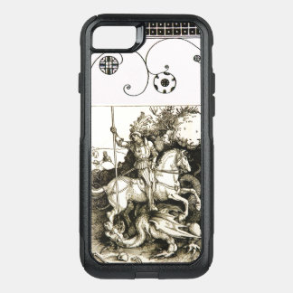 ST. GEORGE AND DRAGON , Black White OtterBox Commuter iPhone 7 Case