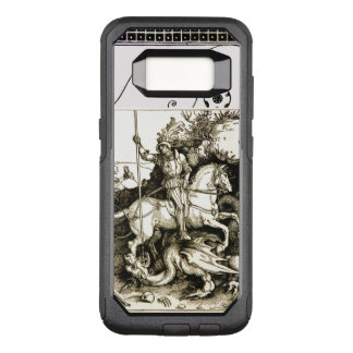 ST. GEORGE AND DRAGON , Black White OtterBox Commuter Samsung Galaxy S8 Case
