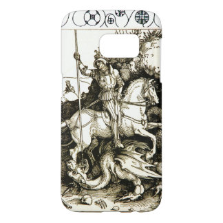 ST. GEORGE AND DRAGON , Black White Samsung Galaxy S7 Case