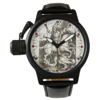 ST. GEORGE AND DRAGON , Black White Watch
