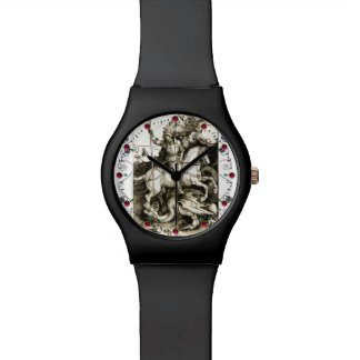 ST. GEORGE AND DRAGON , Black White Watches