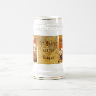 St. George and the Dragon 18 Oz Beer Stein