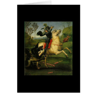 St. George and The Dragon by Raphael (1483-1520) Card