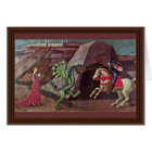 St. George And The Dragon By Uccello Paolo Card