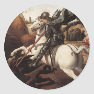 St George and the Dragon Classic Round Sticker