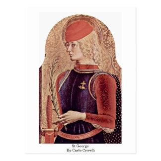 St George By Carlo Crivelli Postcard