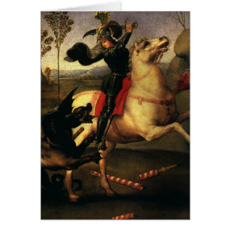 St. George Fighting the Dragon, Raphael, Raffaello Card