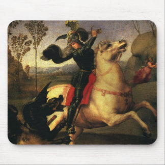 St. George Fighting the Dragon, Raphael, Raffaello Mouse Pad