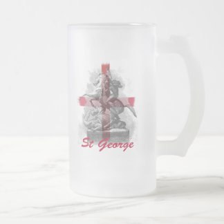 St George Frosted Glass Beer Mug