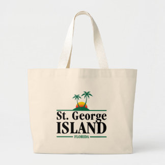 St George Island Florida Large Tote Bag