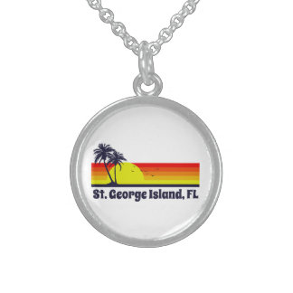 St. George Island Florida Sterling Silver Necklace