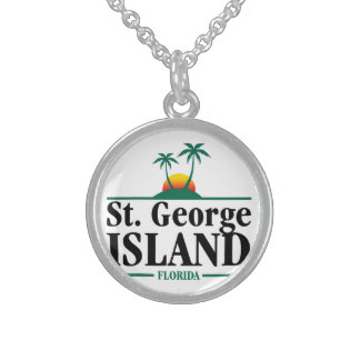 St George Island Florida Sterling Silver Necklace