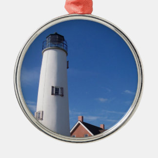 St. George Lighthouse Metal Ornament