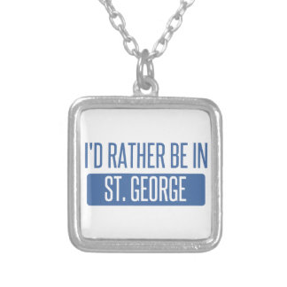 St. George Silver Plated Necklace