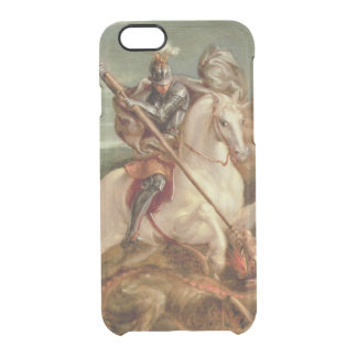 St. George slaying the dragon, (oil on panel) Clear iPhone 6/6S Case
