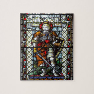 St George stained glass window Puzzles