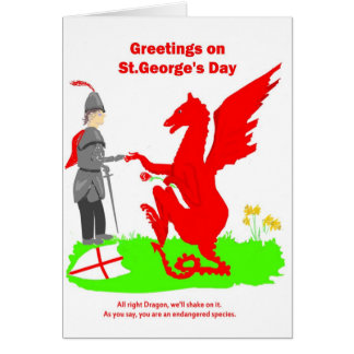 St.George's Day Card. Card