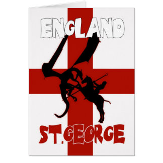 St. George's Day Card - St. George And Dragon
