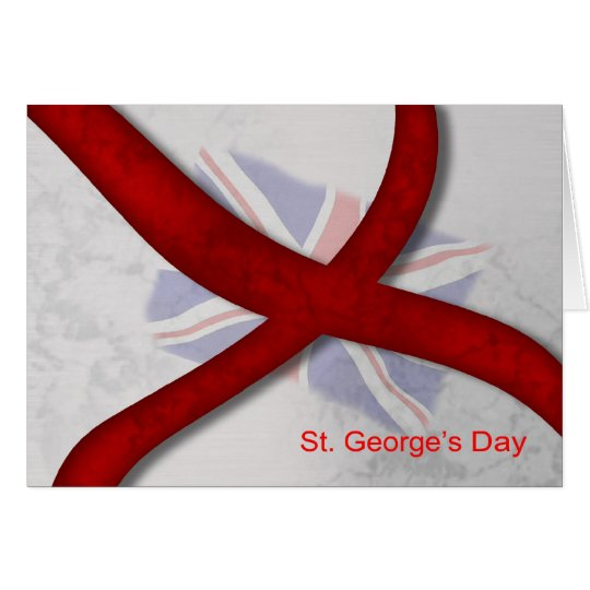 St. George's Day Celebration Cross Of St. George Card