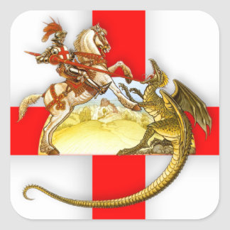 St Georges Day Stckers Square Sticker