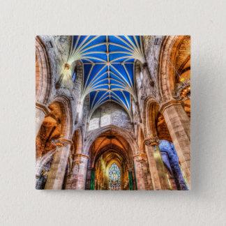 St Giles Cathedral Edinburgh Scotland 2 Inch Square Button