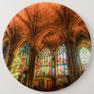 St Giles Cathedral Edinburgh Scotland 6 Inch Round Button