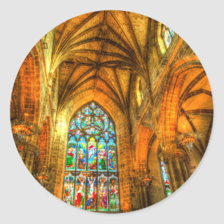 St Giles Cathedral Edinburgh Scotland Classic Round Sticker