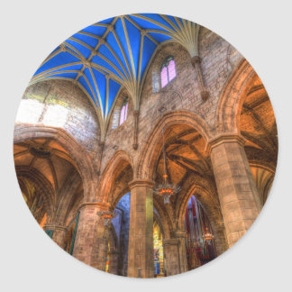 St Giles Cathedral Edinburgh Scotland Classic Round Sticker