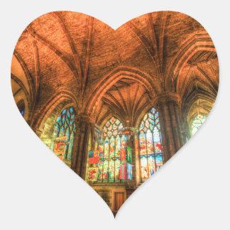 St Giles Cathedral Edinburgh Scotland Heart Sticker