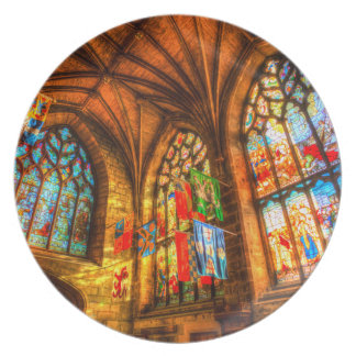St Giles Cathedral Edinburgh Scotland Plate