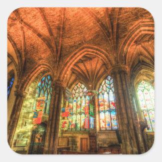 St Giles Cathedral Edinburgh Scotland Square Sticker
