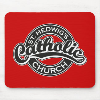St. Hedwig's Catholic Church Black and White Mouse Pads