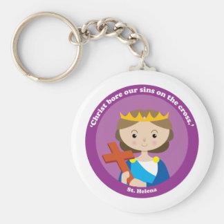 St. Helena Basic Round Button Keychain
