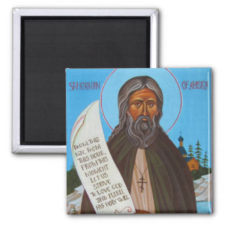 St Herman of Alaska Orthodox Icon Magnet