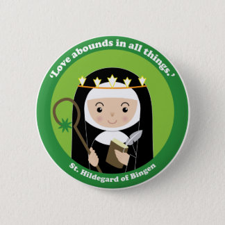 St. Hildegard 2 Inch Round Button
