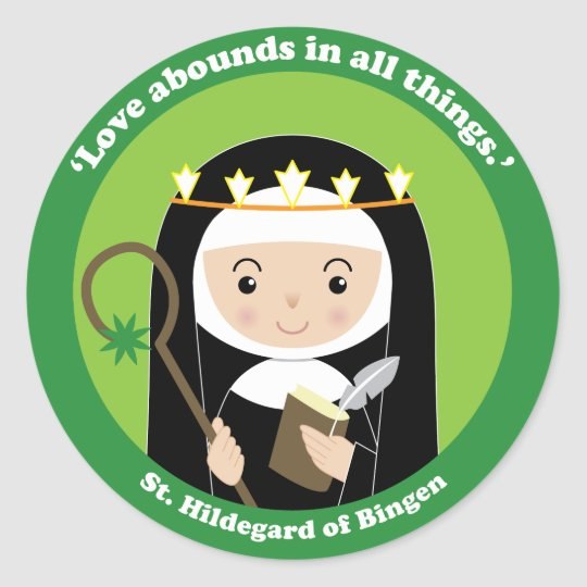 St. Hildegard Classic Round Sticker