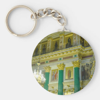 St. Isaac's Cathedral St. Petersburg, Russia Basic Round Button Keychain