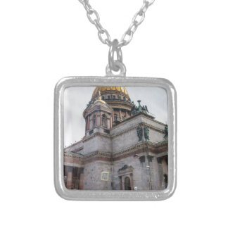 St. Isaac's Cathedral St. Petersburg, Russia Silver Plated Necklace