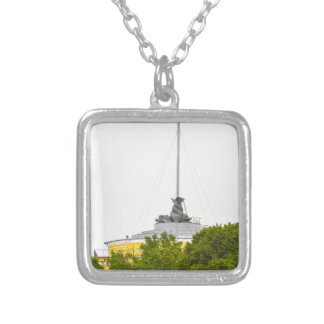St. Isaac's Square St. Petersburg, Russia Silver Plated Necklace