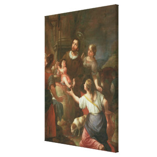 St. Isidore and the Miracle at the Well Canvas Prints
