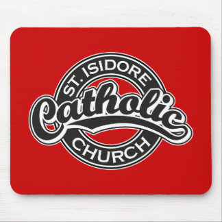 St. Isidore Catholic Church Black and White Mouse Pads