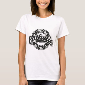 St. Isidore Catholic School Black and White T-Shirt