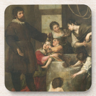 St. Isidore saves a child that had fallen in a wel Drink Coaster