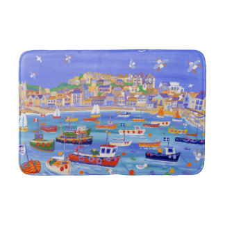 St Ives Harbour Bath mat by John Dyer