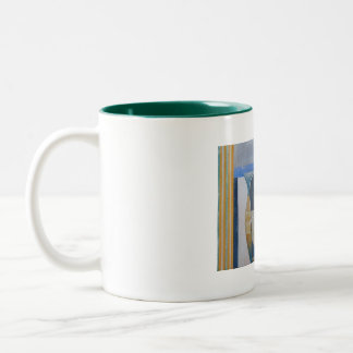 St Ives Mug: Vin Rouge, St Ives. Two-Tone Coffee Mug