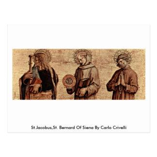 St.Jacobus,St. Bernard Of Siena By Carlo Crivelli Postcard